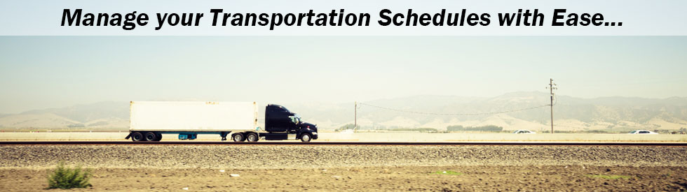 Manage Transportation Schedules